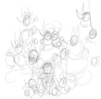(WIP) Group Doodle by Devious-She-Devil
