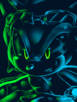 Sonic - Un-Gravitify -NEON by FrenzY-Frenzless