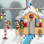 [Commission] Gingerbread House: T, W and Z by izka197
