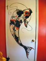 Koi Fish Painting by PRISMAC0L0R