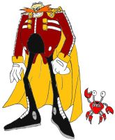 Eggman and Crabmeat Colored by KaosJay666