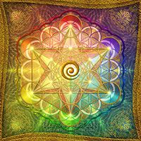 Metatron's Cube Rainbow by Lilyas