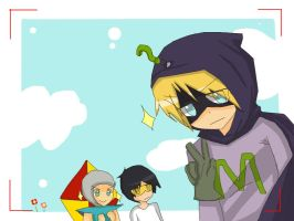 Mysterion and friends by CariAguilar