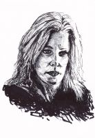 Skyler White Breaking Bad Ink Drawing by LorraineKelly