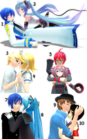 MMD Random Pose Pack 4 (Couples poses) DL by TotodileDash