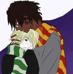 Hugging Drarry by Catchra13