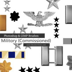 US Military Ranks I Photoshop and GIMP Brushes by redheadstock