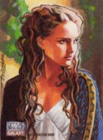 Topps Star Wars Galaxy 7- artist Return- Padme by Randy-Martinez
