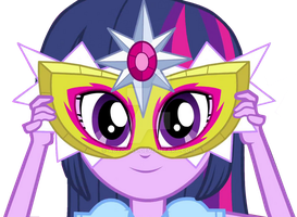 EQG Rainbow Rocks Twilight Sparkle with Mask V by ABToons