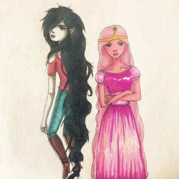 PB and Marcey by Shannarawolf