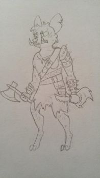 Unnamed Gnoll by RieNamkrow