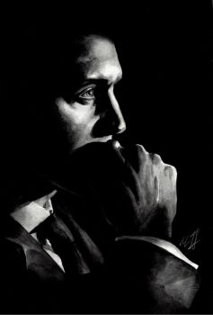 Tom Hiddleston watercolor sketch by KseniaParetsky