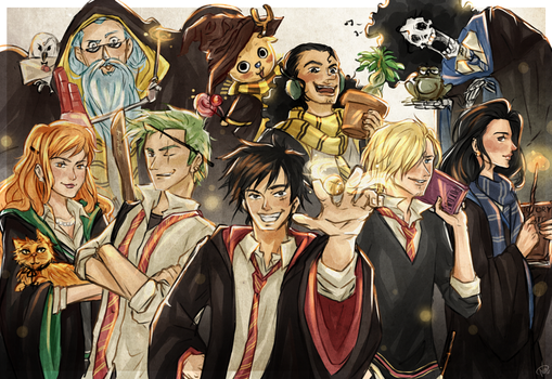 Strawhat Pirates [Harry Potter AU] by punkeduppirate