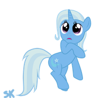 The great and powerful Trixie shy by Random-Grimm