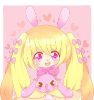pink bunny by CandyChild777