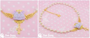 Dreamy star kitten Necklace 3 by CuteMoonbunny