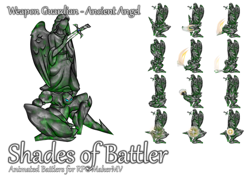 RPG Maker MV Battler - Weapon Guard: Ancient Angel by ShadowHawkDragon