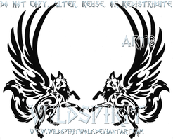 Winged Fox Pair Tattoo by WildSpiritWolf
