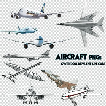 Aircraft PNGs by gwendo0