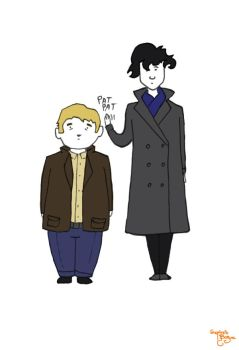 John and Sherlock by Tisseur-de-reves