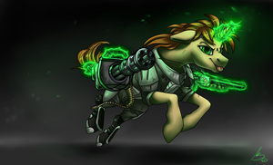 Heavy weapons mare by monere-lluvia