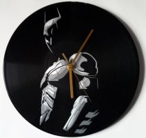 The Dark Knight stencil on vinyl record by vantidus