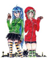 VOCALOID - Matryoshka - Miku x GUMI by HiddenService