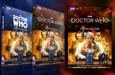 Doctor Who The Five Doctors DVD Cover Varients by GrantBattersby