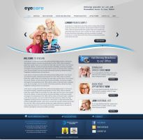 eyecare website template by think360studio