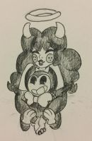 {Bendy x Alice} by MsCreepyPlagueDoctor