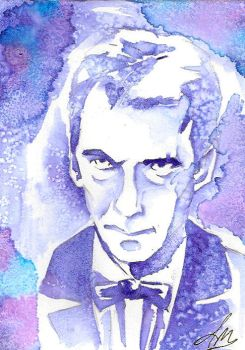 Angry Eyebrows, Original Dr Who Fan art by GodsDreamer