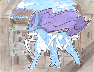 Suicune and the Burned Tower by Scrafty112