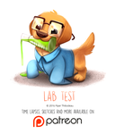 Daily Paint 1460. Lab Test by Cryptid-Creations