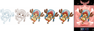 'One Piece cards : Chopper' step by step by Lily-Fu