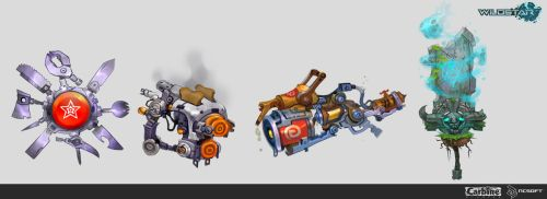 Wildstar Pc Gamer Contest Weapons by Beezul