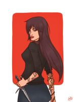 Isabelle Lightwood -Redrawn- by foreverfreefalling