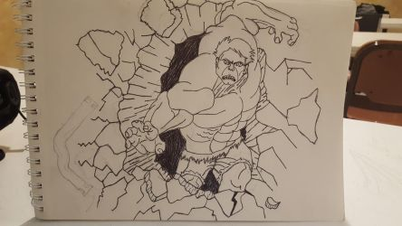Hulk tattoo design thing by TessiaTheTrader