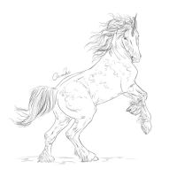 Unicorn Lineart by JulieBales