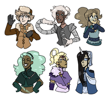 some girls I got by MeowTownPolice
