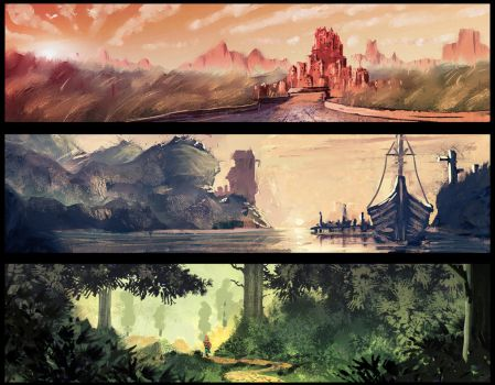 30 min landscape speedpaints 3[48] by DaisanART