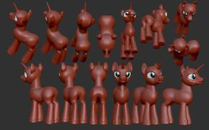 Male Pony reference sheet by Harikon