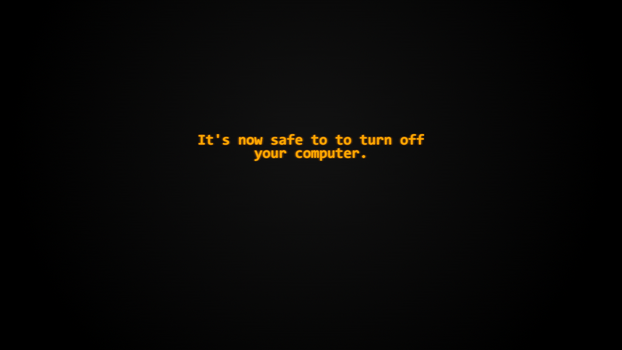 Wallpaper - Turn Off Your Computer by Drewdini