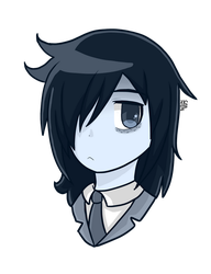 -:Tomoko - Watamote:- by TheCartoonFan