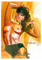 Bettie Page in a mood by markmchaley