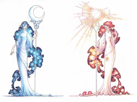 moon and sun by drachenmagier