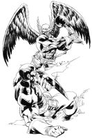 Captain America vs Hawkman by RobertAtkins