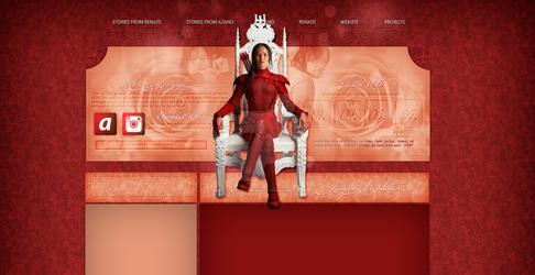 Ordered layout with J. Lawrence + N. Reedus by redesignbea