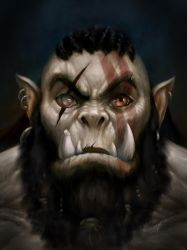 Orc Painting by adammiconi