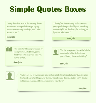 Simple Quotes Boxes by terrenceforever