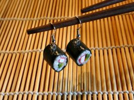 Sushi Roll Earring by SpankTB